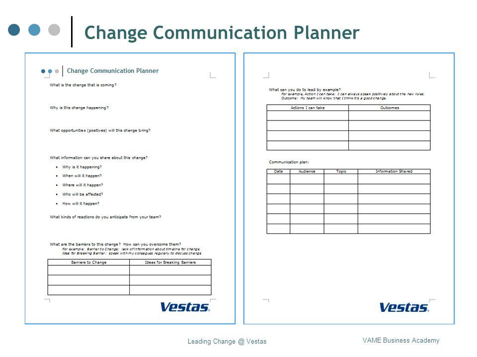 Change Communication Planner