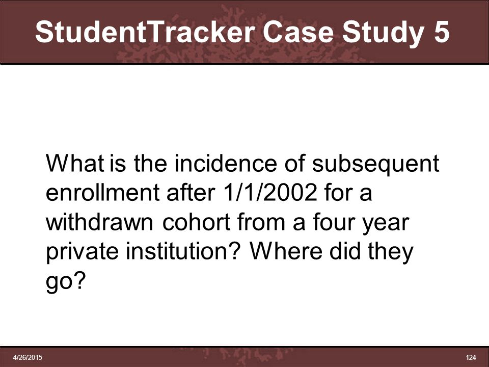 StudentTracker Case Study 5