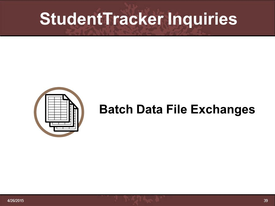 StudentTracker Inquiries