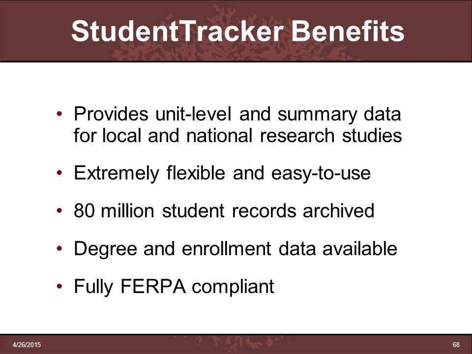 StudentTracker Benefits