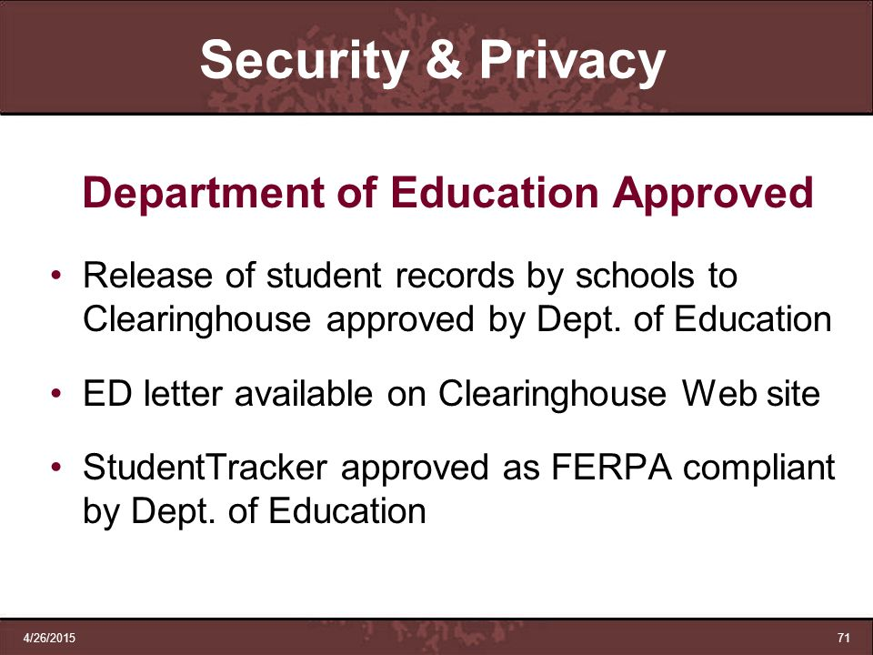 Department of Education Approved
