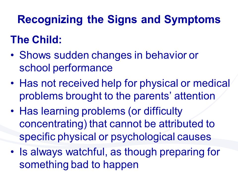 Recognizing the Signs and Symptoms