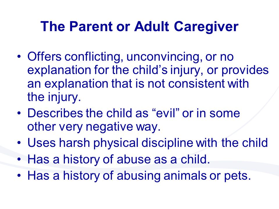 The Parent or Adult Caregiver