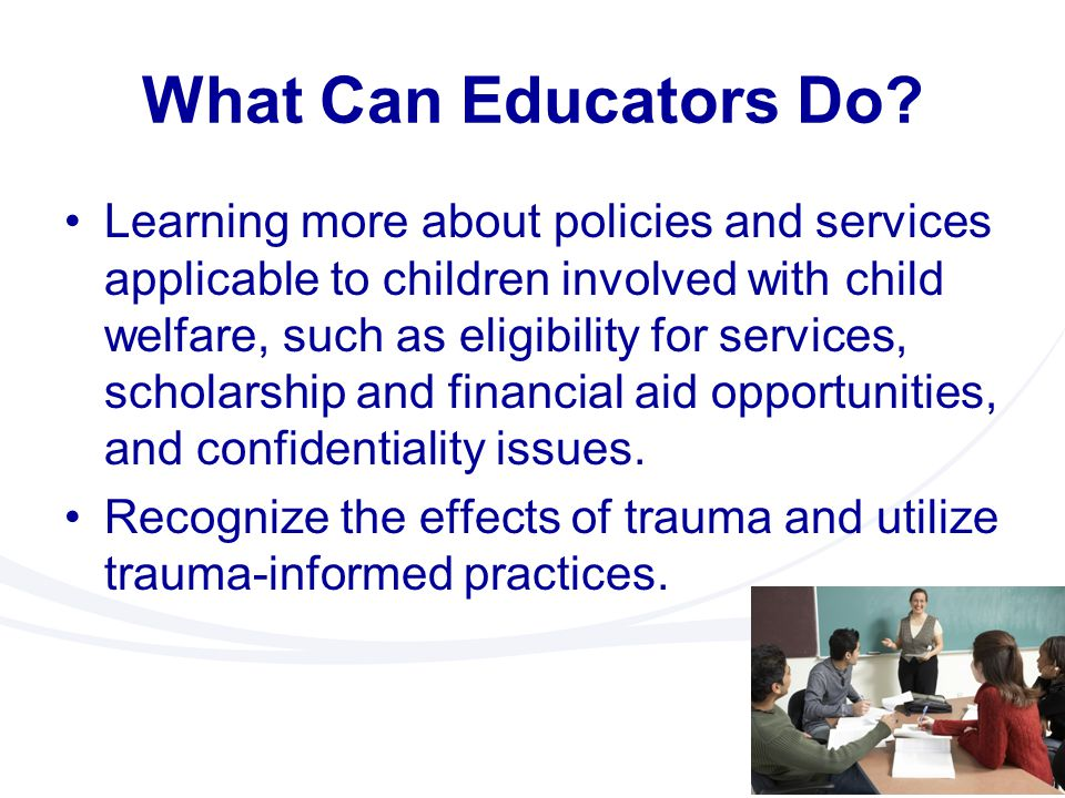 What Can Educators Do