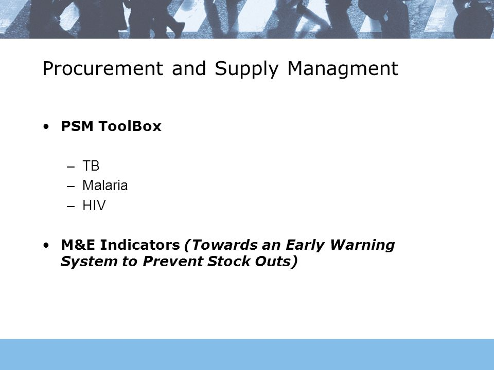 Procurement and Supply Managment