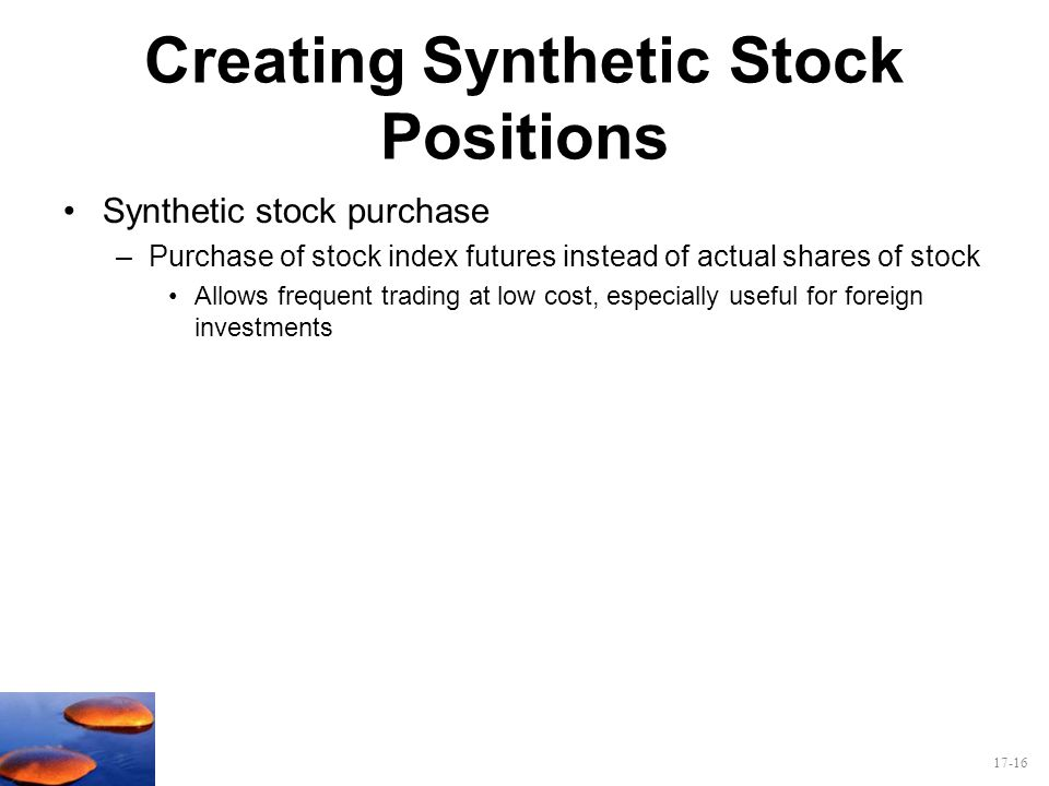 Creating Synthetic Stock Positions