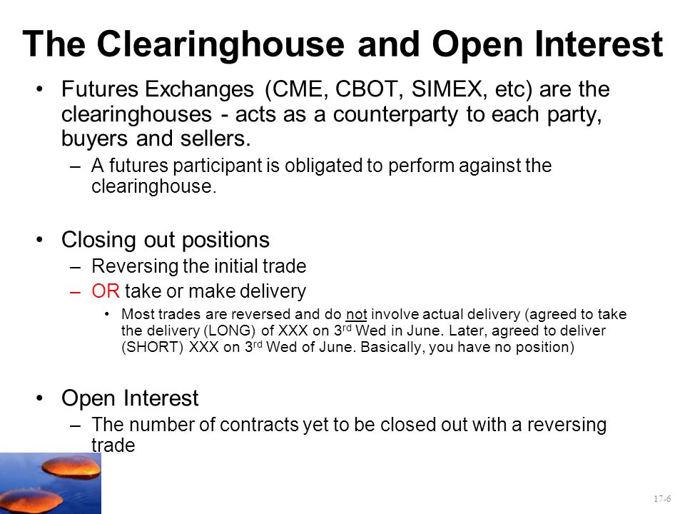 The Clearinghouse and Open Interest