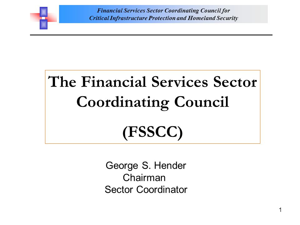 The Financial Services Sector Coordinating Council