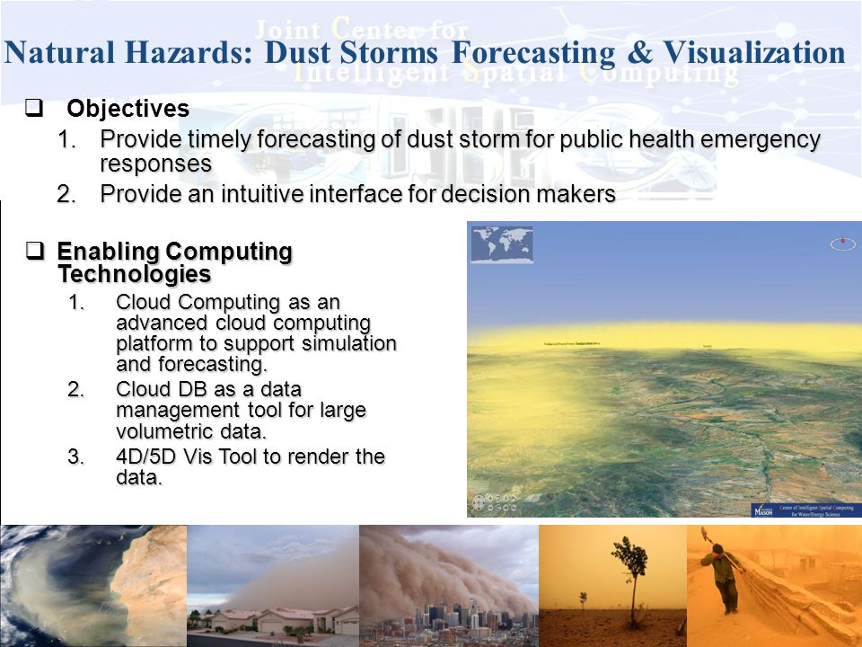 Natural Hazards: Dust Storms Forecasting & Visualization