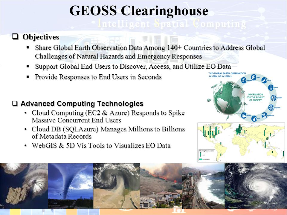 GEOSS Clearinghouse Objectives