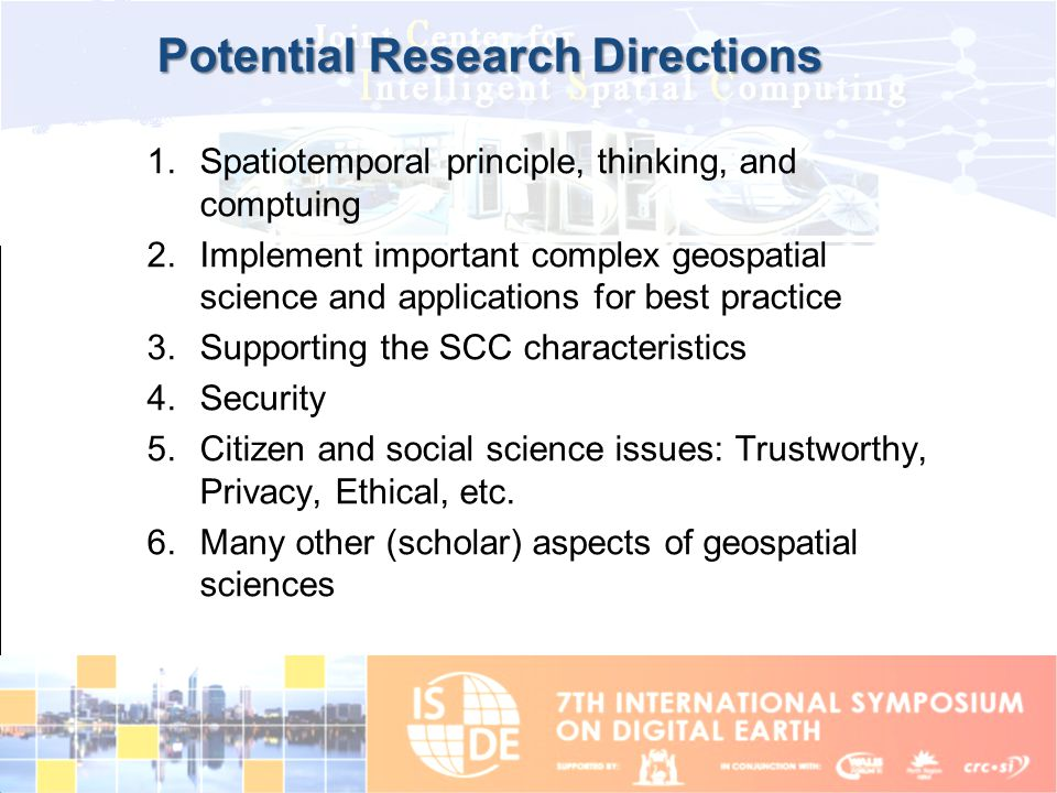 Potential Research Directions
