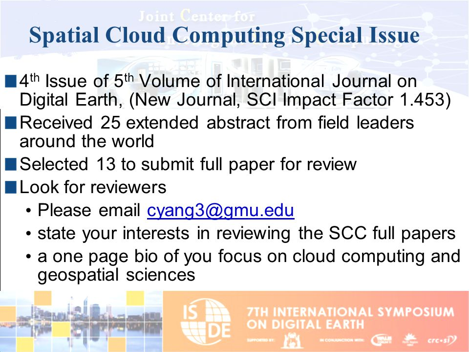 Spatial Cloud Computing Special Issue