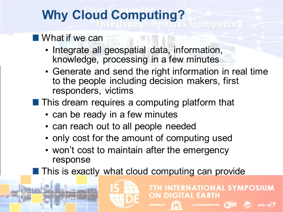 Why Cloud Computing What if we can