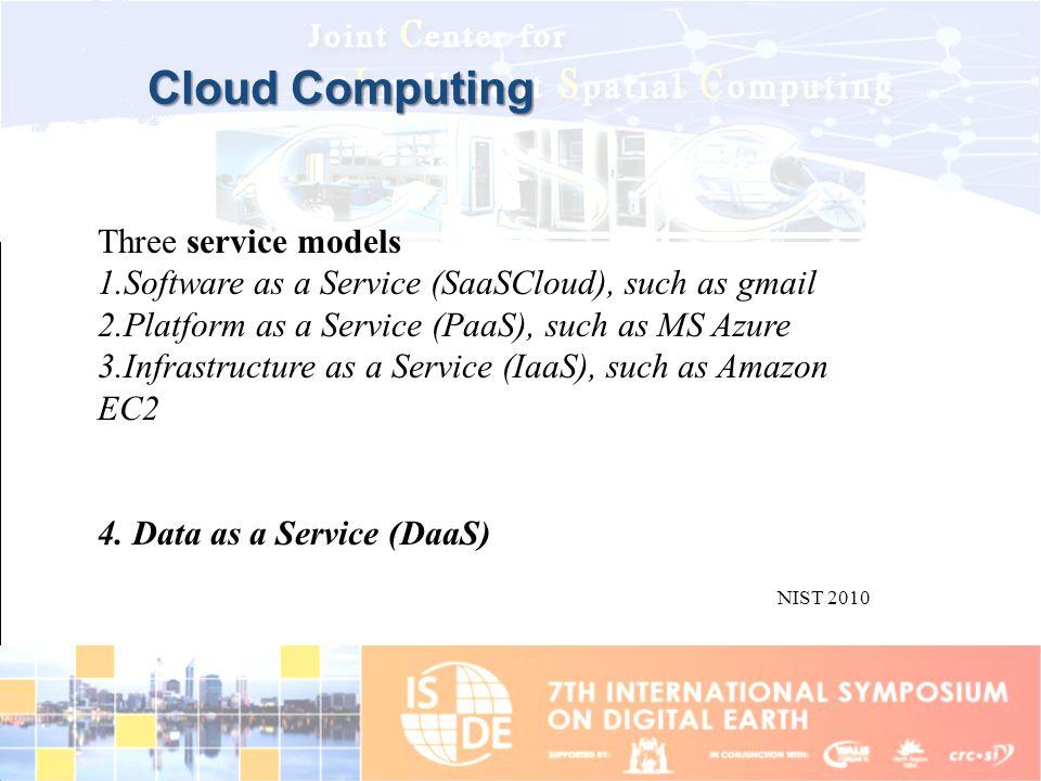 Cloud Computing Three service models