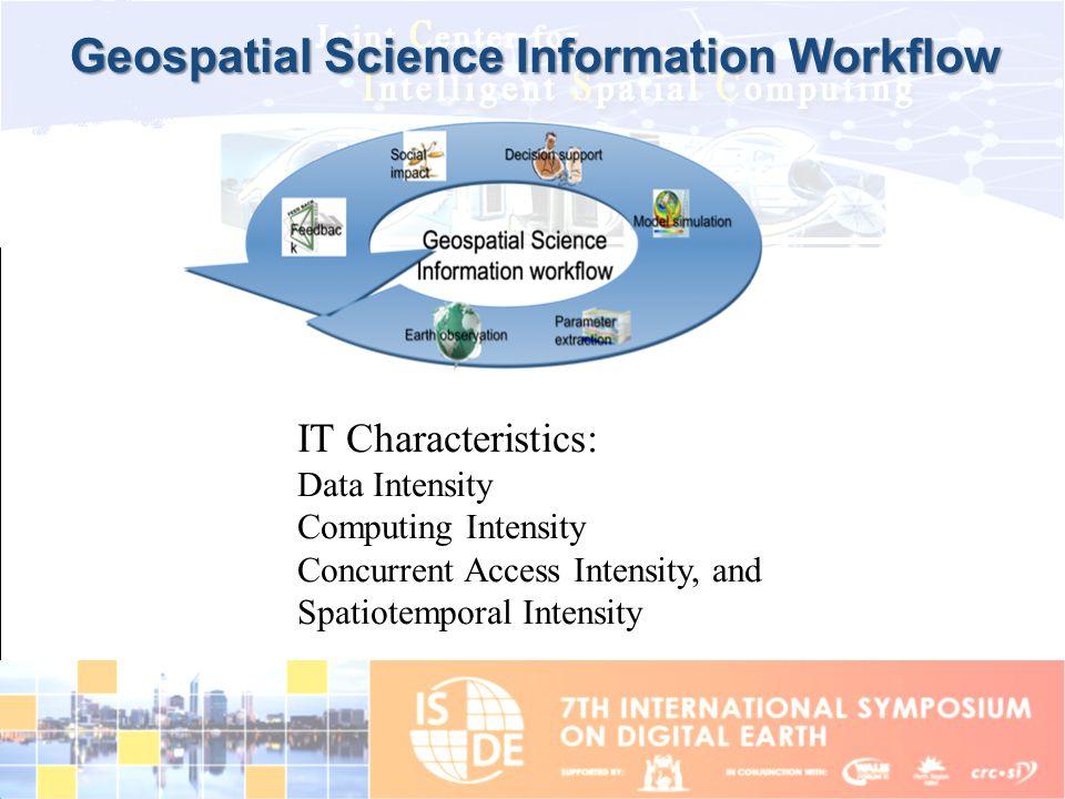 Geospatial Science Information Workflow