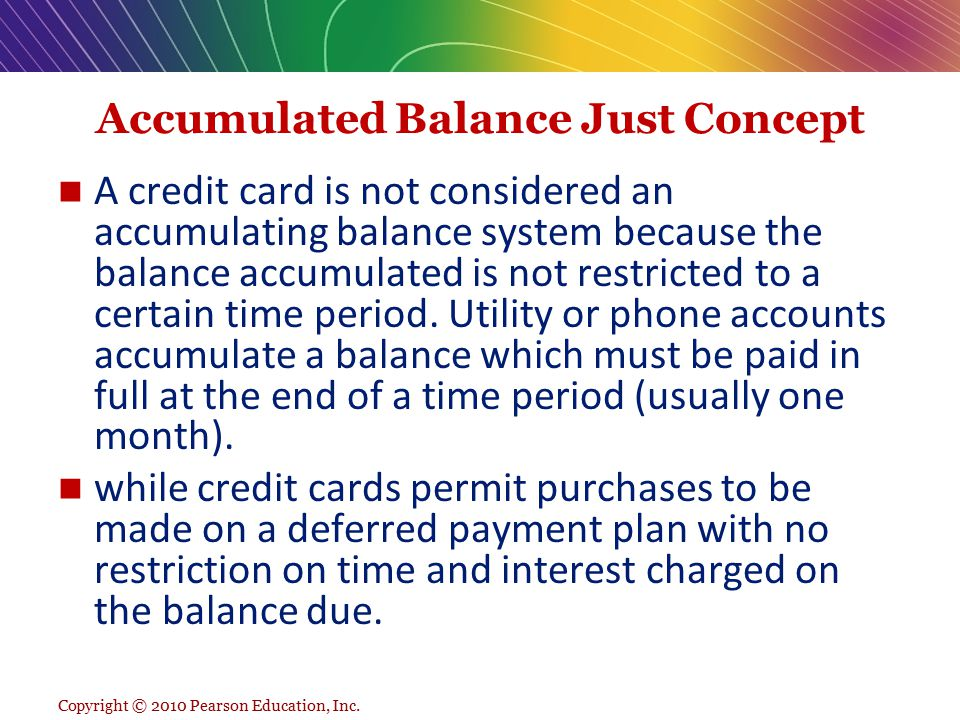 Accumulated Balance Just Concept