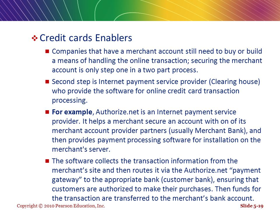 Credit cards Enablers