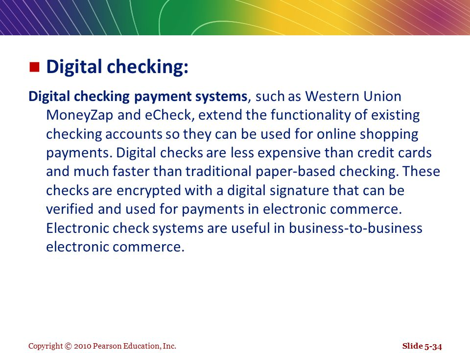 Digital checking:
