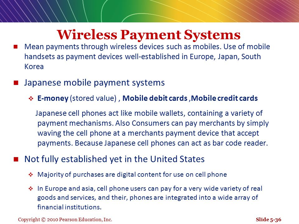 Wireless Payment Systems