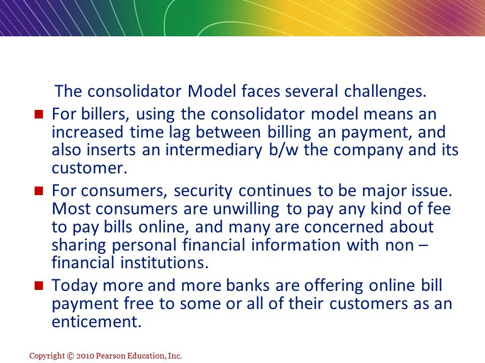 The consolidator Model faces several challenges.