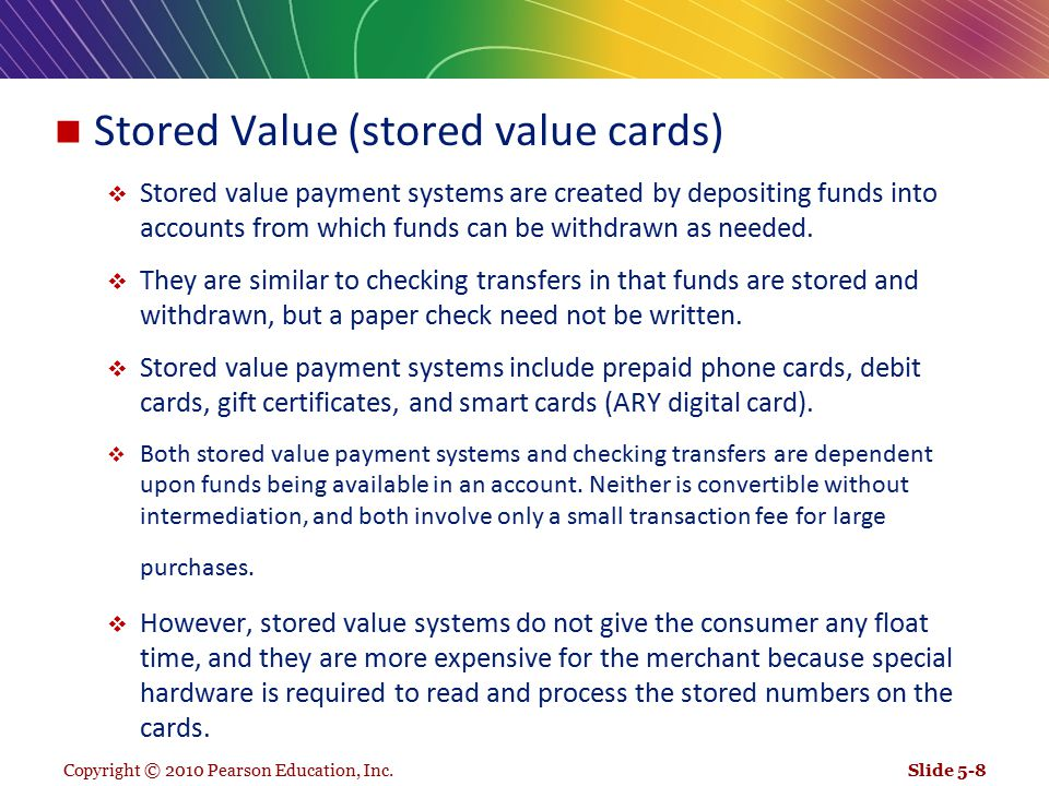 Stored Value (stored value cards)