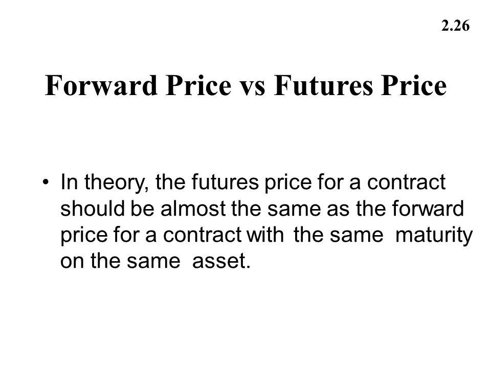 Forward Price vs Futures Price