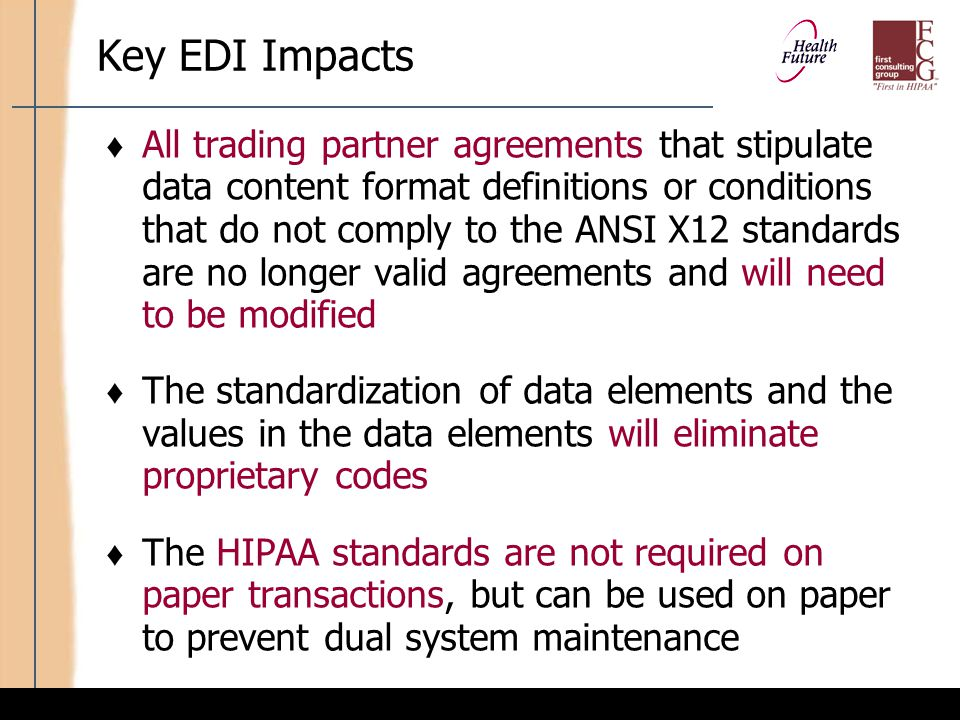 Key EDI Impacts (cont'd)