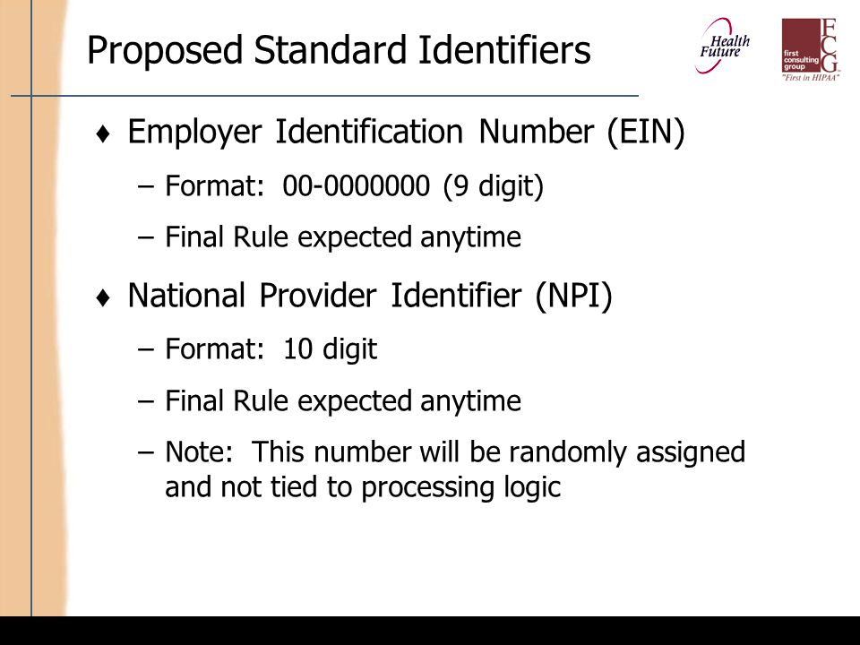 Proposed Standard Identifiers (cont'd)