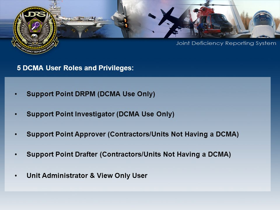 5 DCMA User Roles and Privileges: