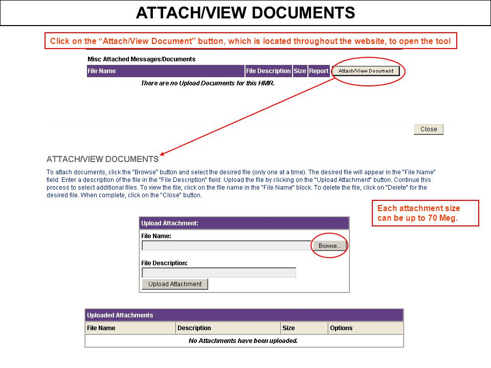 ATTACH/VIEW DOCUMENTS