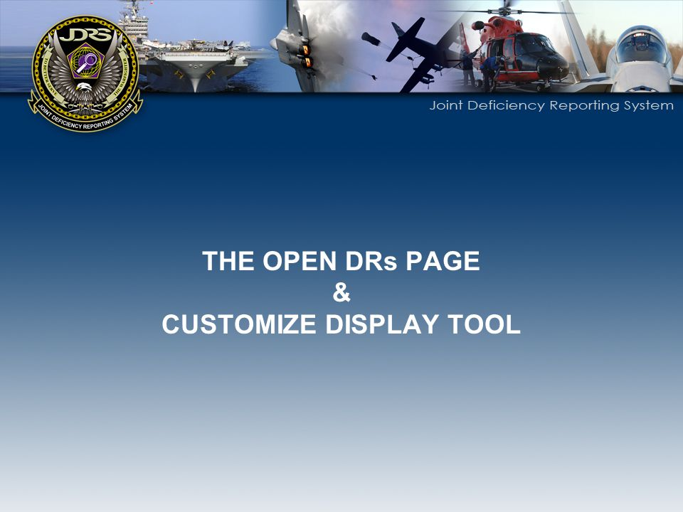 CUSTOMIZE DISPLAY TOOL