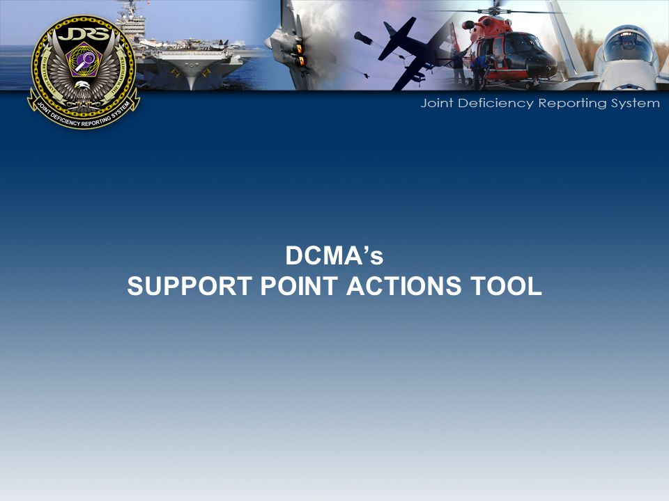 SUPPORT POINT ACTIONS TOOL