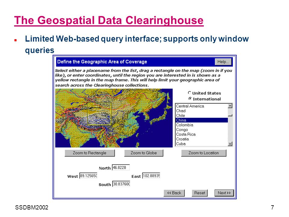 The Geospatial Data Clearinghouse