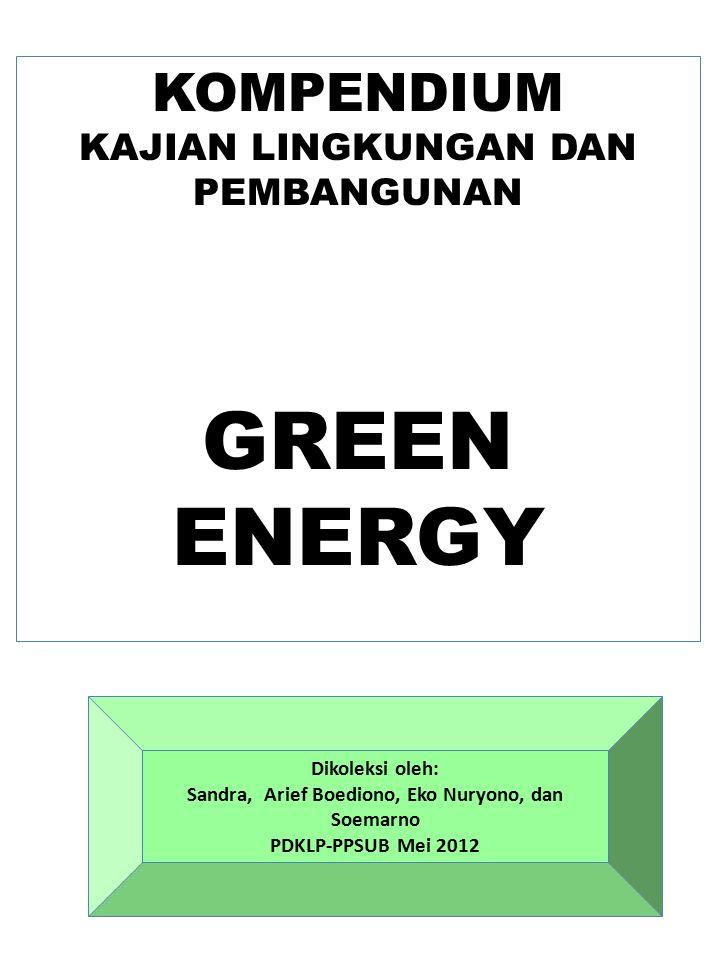 GREEN ENERGY KOMPENDIUM KAJIAN LINGKUNGAN DAN PEMBANGUNAN