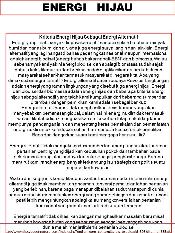 ENERGI HIJAU