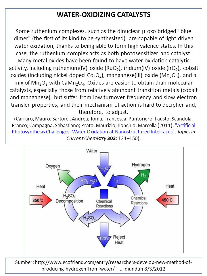 WATER-OXIDIZING CATALYSTS