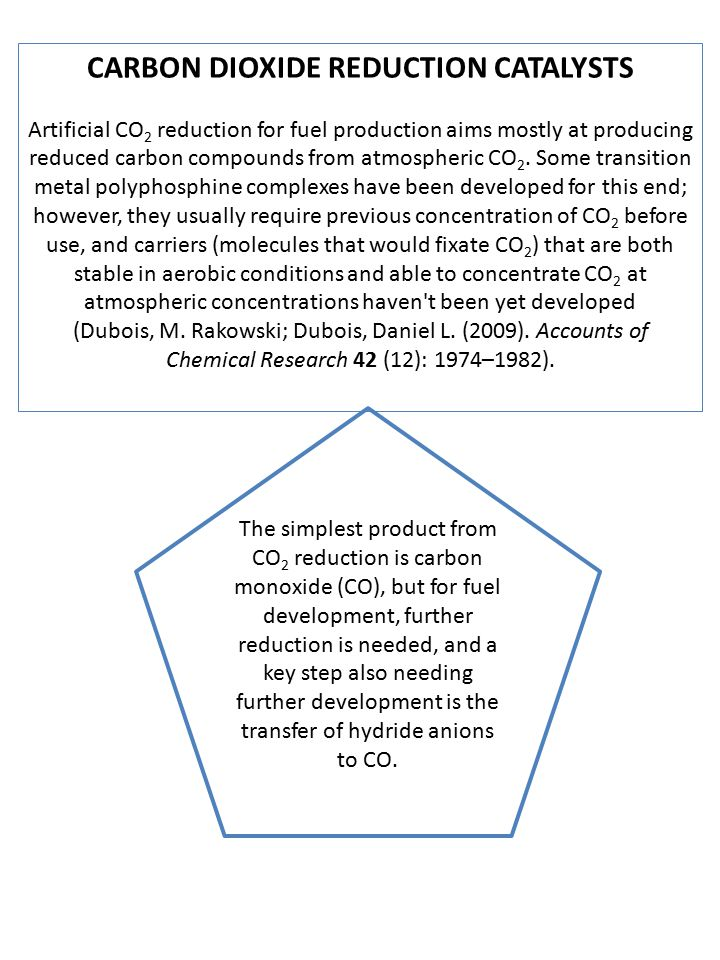 CARBON DIOXIDE REDUCTION CATALYSTS