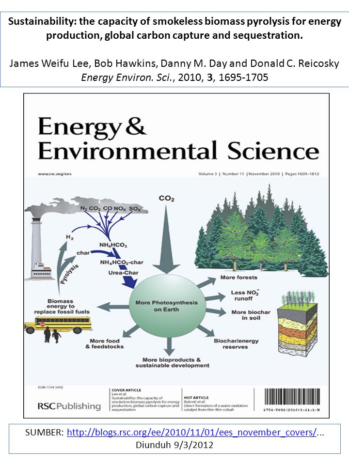 Sustainability: the capacity of smokeless biomass pyrolysis for energy production, global carbon capture and sequestration.