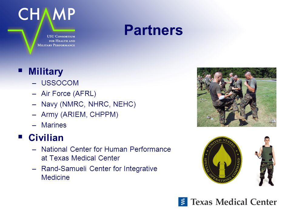 Partners Military Civilian USSOCOM Air Force (AFRL)