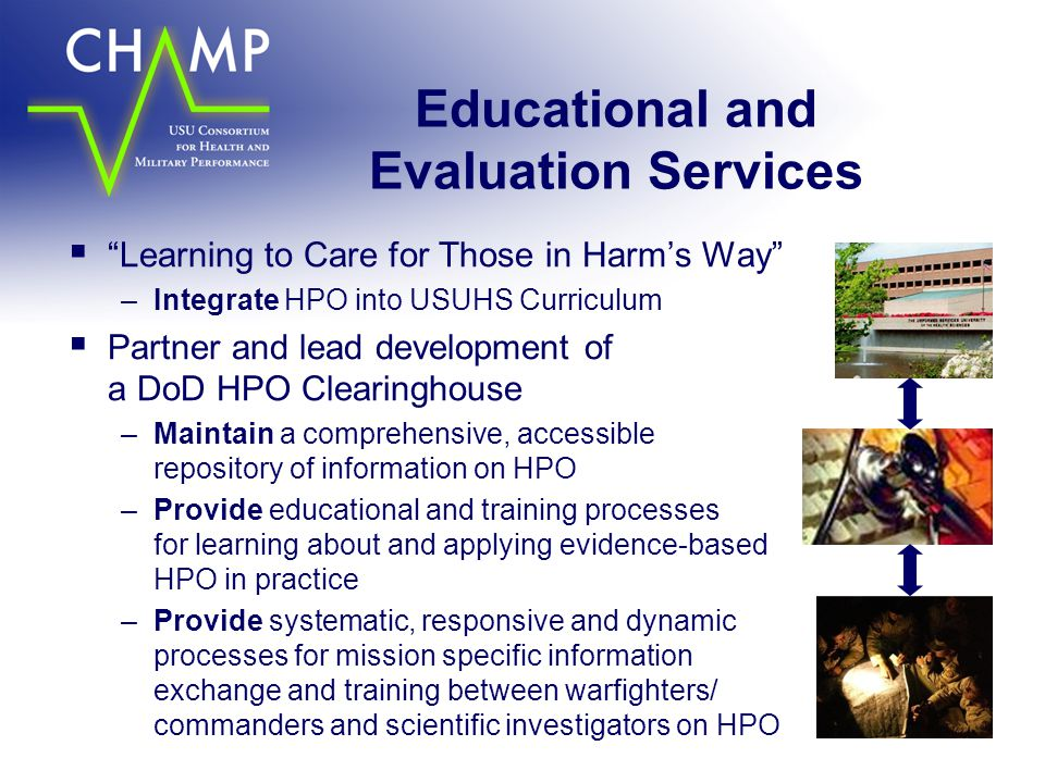 Educational and Evaluation Services
