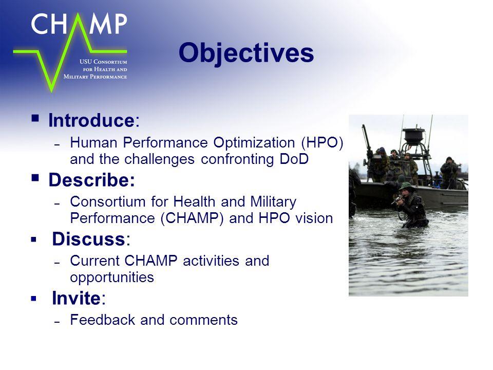 Objectives Introduce: Describe: