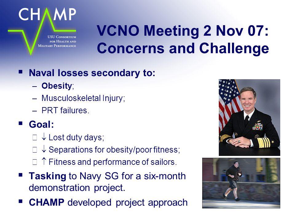 VCNO Meeting 2 Nov 07: Concerns and Challenge