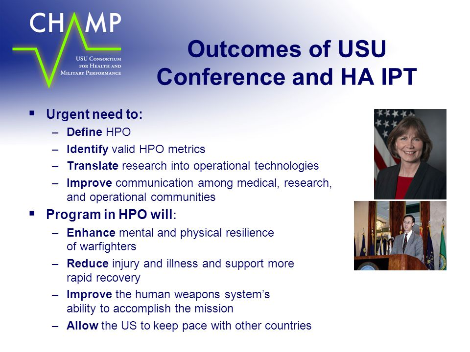 Outcomes of USU Conference and HA IPT