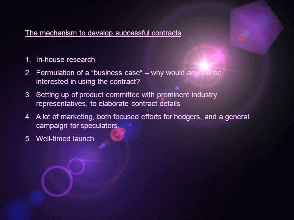 The mechanism to develop successful contracts