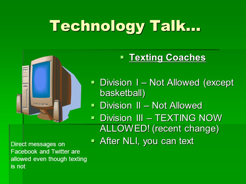 Technology Talk… Texting Coaches