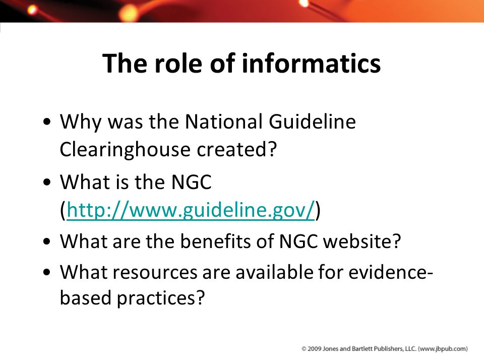 The role of informatics
