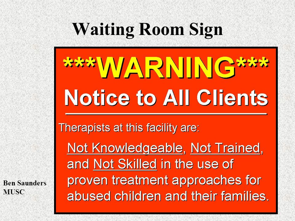 Waiting Room Sign Ben Saunders MUSC