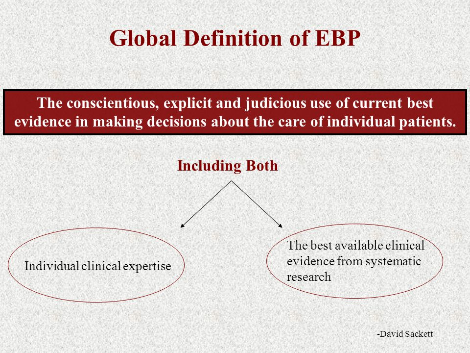 Global Definition of EBP
