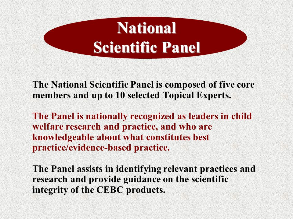 National Scientific Panel