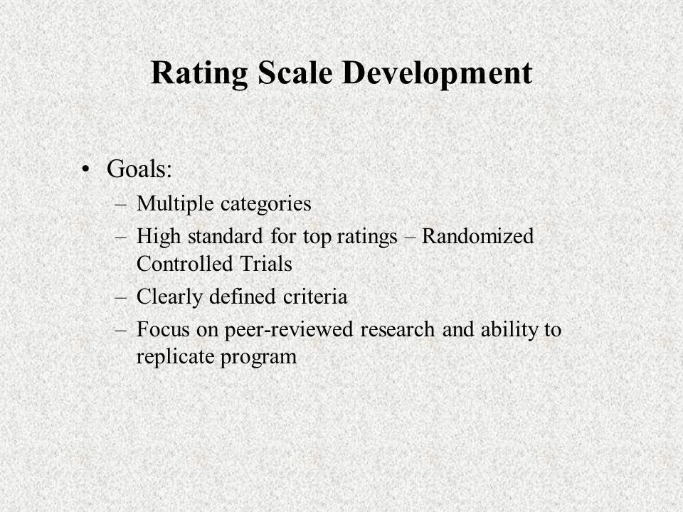 Rating Scale Development